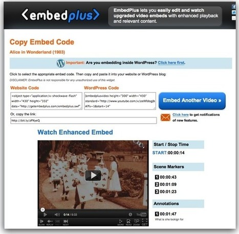 EmbedPlus - Enhance YouTube Videos for Learning | teaching with technology | Scoop.it