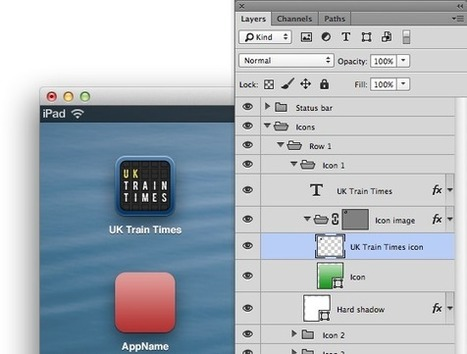 Photoshop templates to preview iPad icon designs | Dave Addey | iPhone and iPad Development | Scoop.it