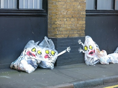 Mick Hartley: Waste bags | Art Daily | Scoop.it