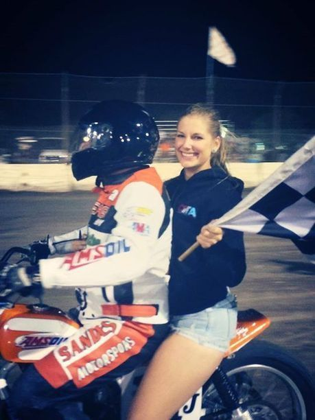 Kimmie's first checkered flag lap! Jack Jones took first in Vintage Heavy and to... | California Flat Track Association (CFTA) | Scoop.it