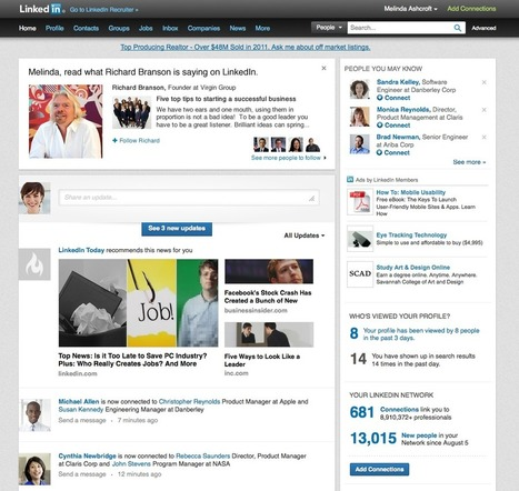 LinkedIn New Change Showcases Thought Leaders . . . | Social Media Bites! | Scoop.it