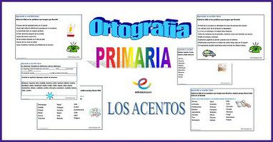 Ortografia Primaria. Los acentos - Educapeques | Las TIC y la Educación | Scoop.it