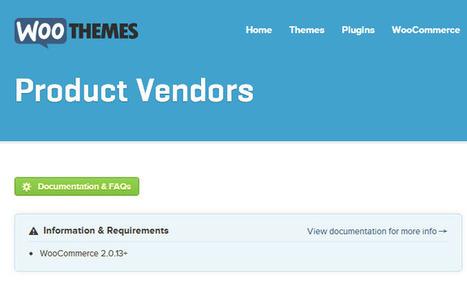 Woocommerce Product Vendors v1.0.2 Extenion   Download Free Full Scripts   WordPress   Scoop.it