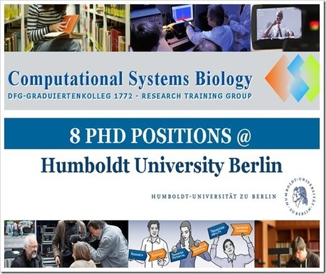 8 PhD Positions in Computational Systems Biology | bioinforamtics | Scoop.it