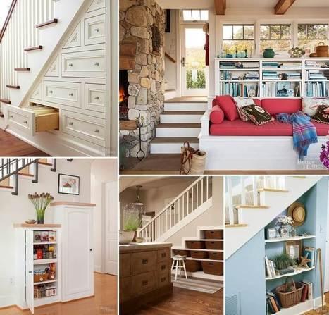Ingenious Ways to Create Storage Around a Staircase | Amazing interior design | Scoop.it