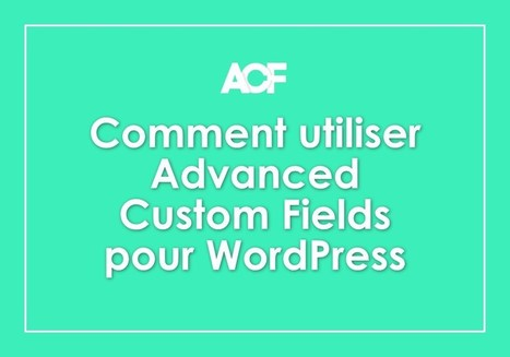 3 façons d'utiliser Advanced Custom Fields pour WordPress | Mes ressources personnelles | Scoop.it