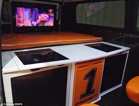 Inside the campervan fit for a boy racer: £55,000 VW pimped up with ... | VW Camper Vans | Scoop.it
