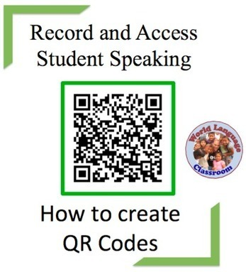 Using QR Codes to Record and Access Student Speaking | QR code readers, generators and news | Scoop.it