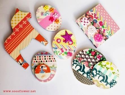 DIY réaliser des broches fun et colorées avec du washi masking tape | Bricolage pour mes enfants | Scoop.it