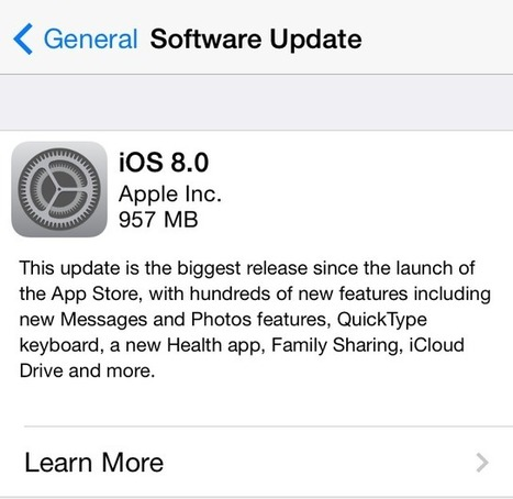 iOS 8 Adoption At 46% After Five Days, Says Apple | Just Give IT to me Simple : Technology | Scoop.it