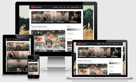 Way Templates | Best Blogger Free Responsive Templates: Download Novelo Blog Responsive Blogger Template | WordPress And Blogger Theme | Scoop.it