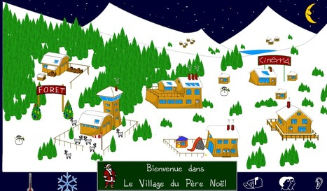 Le village du Père Noël | FLE enfants | Scoop.it
