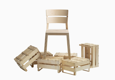 läufer + keichel s'inspire des cageots en bois pour proposer une chaise poids plume | inoow design lab | Scoop.it