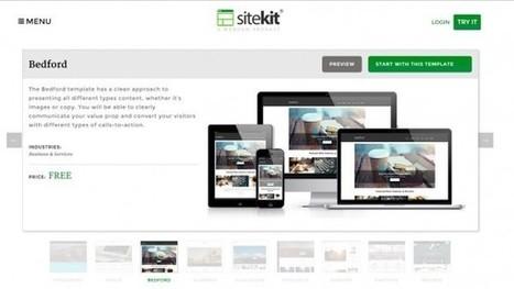 SiteKit, un nuevo constructor de sitios web, con plantillas y dominio propio, todo gratis » | Educacion, ecologia y TIC | Scoop.it