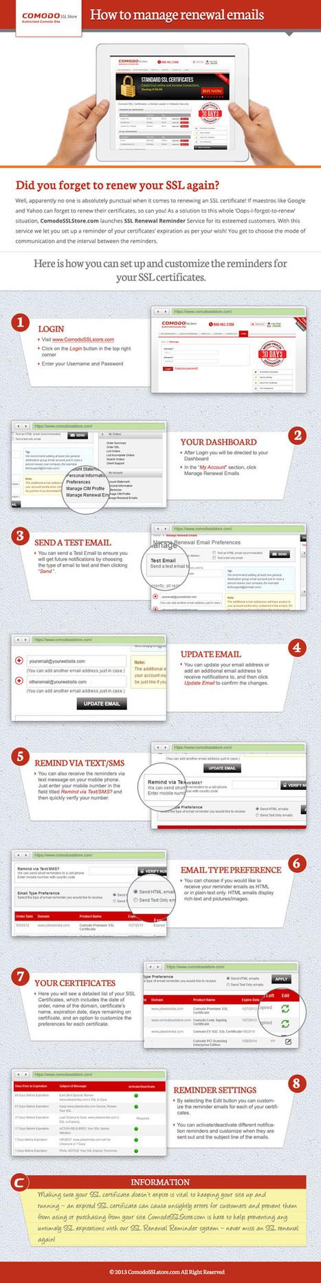 Comodo SSL Store Explain You How To Manage SSL Renewal Emails | Comodo SSL | Scoop.it