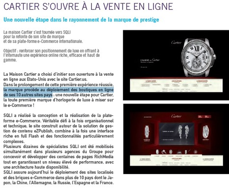 Cartier s'apprêterait à lancer un site e-commerce en France - Web and Luxe - Blog Luxe Marketing | Luxe 2.0 | Scoop.it