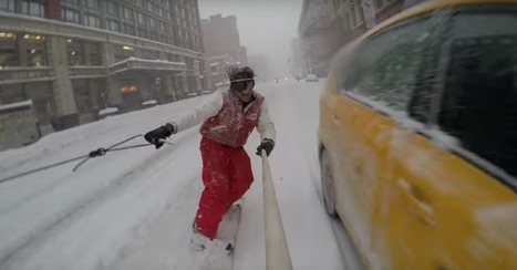 YouTube star Casey Neistat snowboards on the streets of New York | Artistic Development, Globalization, and Environmental Art | Scoop.it
