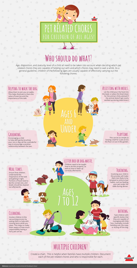 Pet Related Chores for Children: How Young is Too Young? | All Infographics | Scoop.it