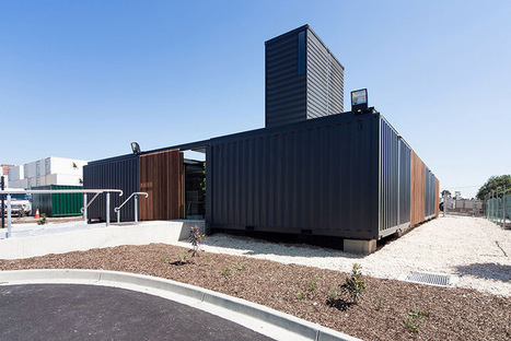Courtyards Connected by Refurbished Shipping Containers: An Innovative Melbourne Workplace | sustainable architecture | Scoop.it