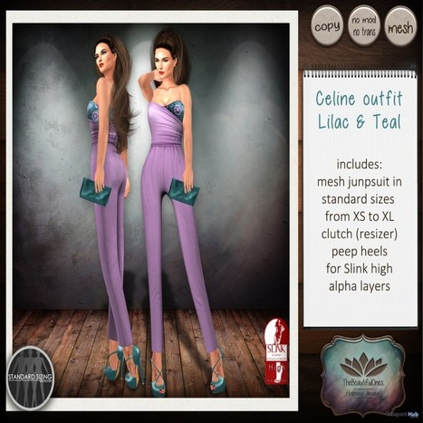 Celine Outfit Lilac & Teal Group Gift by The Beautiful Ones | Teleport Hub - Second Life Freebies | Second Life Freebies | Scoop.it