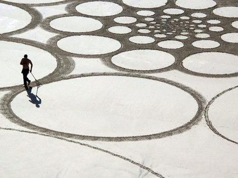 Impresionantes dibujos en la arena: la obra de Jim Denevan   inspirArte   Scoop.it