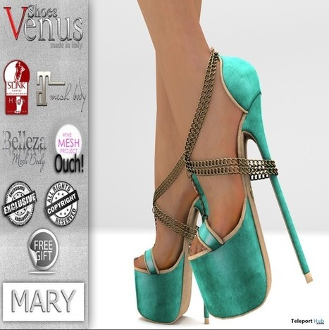 Mary High Heels Group Gift by VeNuS Shoes | Teleport Hub - Second Life Freebies | Second Life Freebies | Scoop.it