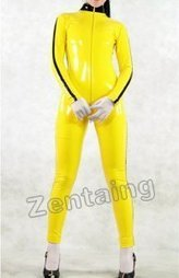 Yellow PVC Catsuit Zentai [C20024] - $44.00 : Shop Zentai Suits Full Bodysuits And Catsuits From Zentaing.com | zentai catsuit lycra | Scoop.it