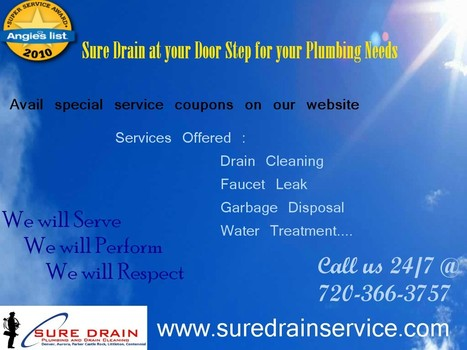 For your Plumbing Needs - Sure Drain is at your Door Step | Plumbing Services | Scoop.it