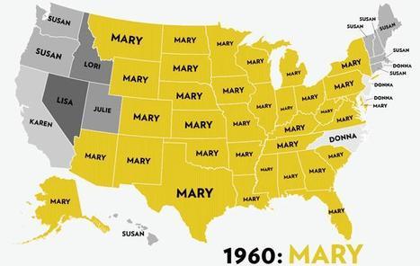 Les prénoms féminins les plus populaires aux Etats-Unis | Cartes et Insolites | Scoop.it