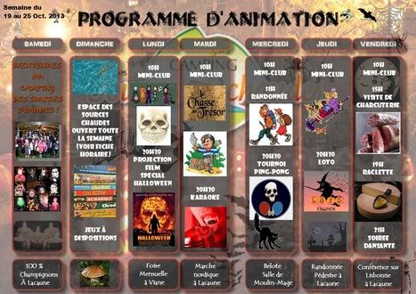 Programme d'animation des vacances de Toussaint (1) | Camping lacaune | Scoop.it