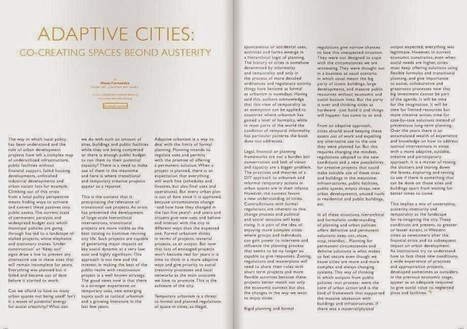Adaptive cities and transitional uses: co-creating places beyond austerity | Adaptive Cities | Scoop.it