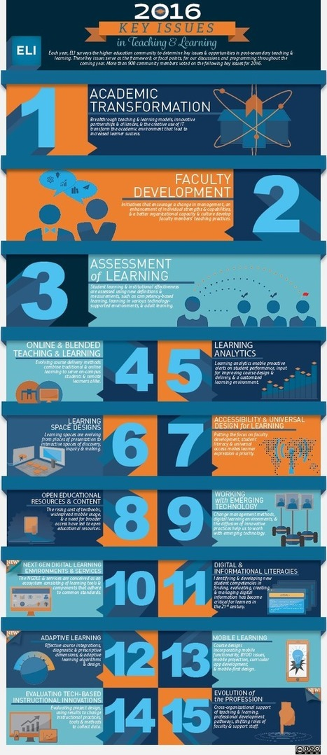 Infographie : Key Issues in Teaching and Learning | Sciences du numérique et e-education | Scoop.it