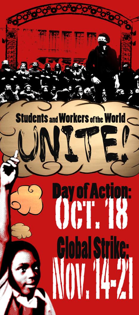 get organised for the GLOBAL EDUCATION STRIKE !!   International Student Movement   international student overseas   Scoop.it