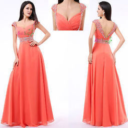 Coral Long Formal Prom Ball Dresses Party Wedding Bridesmaid Evening Gowns US16 | Fashion | Scoop.it