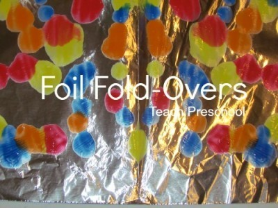 Fantastic foil fold-over paintings | Teach Preschool | Scoop.it