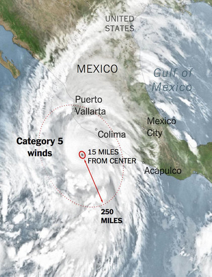 Hurricane Patricia Strikes Mexico | The amazing world of Geography | Scoop.it