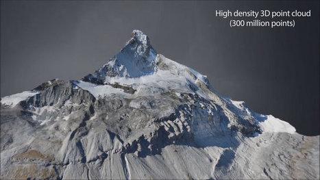 Scan 3D : reconstruction détaillée d'une montagne à l'aide de drones | Infographie 3D | Scoop.it
