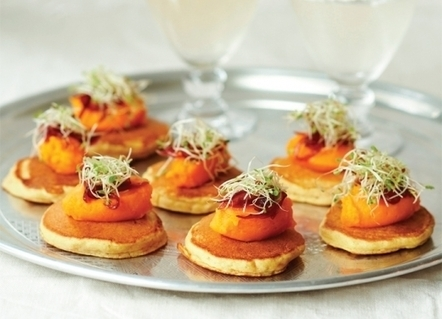 Carrot and Cumin Pancake Canapes Recipe | Food for Foodies | Scoop.it