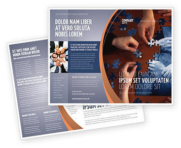 Team Building Puzzle Brochure Template | Brochure Templates | Scoop.it