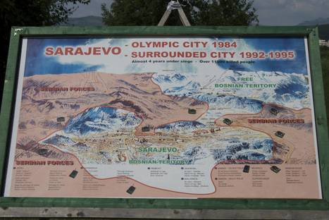 Map of Sarajevo during the siege | The Cellist of Sarajevo (Siege of Sarajevo) | Scoop.it