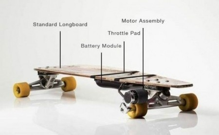 Kickr adds an electric motor to any longboard - Gizmag | Esportes | Scoop.it