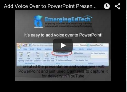 Add Voice Over to PowerPoint (2007) Presentations in 5 Easy Steps — Emerging Education Technologies | Into the Driver's Seat | Scoop.it