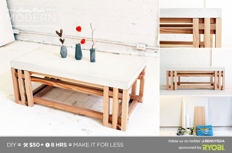 EP15 Concrete + Wood Coffee Table ‹ HomeMade Modern | Mise and Plus+ | Scoop.it