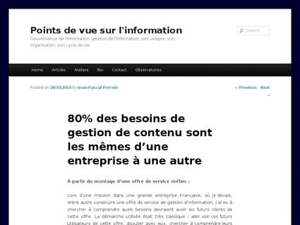 80% des besoins de gestion de contenu sont les mêmes d'une entreprise à une autre | Websourcing.fr | Outils et  innovations pour mieux trouver, gérer et diffuser l'information | Scoop.it