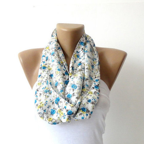 Valentines day,Infinity Scarf,circle scarf,SOFT,Winter Scarf,Loop Scarf,Cowl,Nomad Tube,spring fashion,fall fashion,blue and yellow flowers | Knit Ruffled Scarf,multicolor scarf,2013 NEW TREND SCARF,accessories,gifts for her,fashion,long scarf | Scoop.it