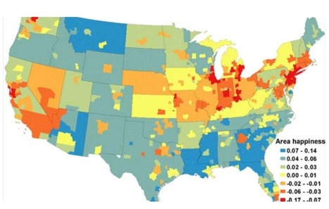 Map: The happiest places in America | Mrs. Watson's Class | Scoop.it