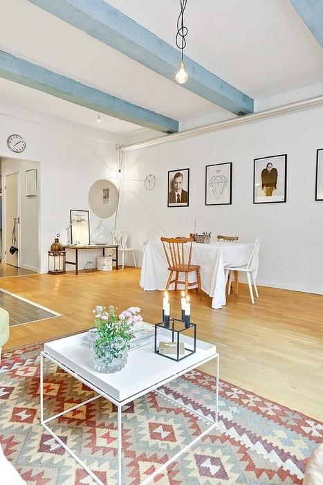 L'appartement aux poutres bleues | PLANETE DECO a homes world | Décoration et Peinture | Scoop.it