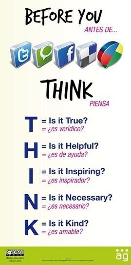 Contar con TIC: Pensar antes de publicar en las redes sociales | Las TIC y la Educación | Scoop.it