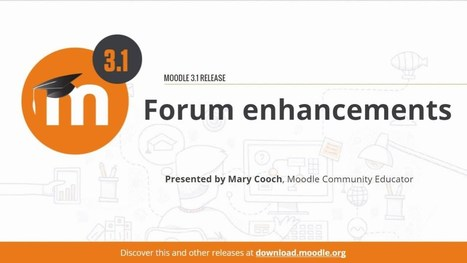 Take Advantage Of The Update To Forum Activity In Moodle 3.1 To Foster Meaningful Conversation Online | Moodle News | Scoop.it