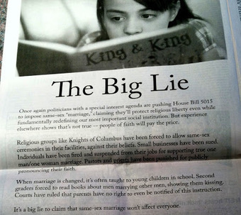Joe. My. God.: NOM Publishes Full-Page Lie-Filled Ad In Rhode Island Newspaper   Daily Crew   Scoop.it